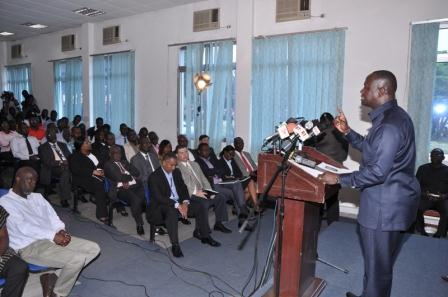 Energy Minister, Mr Emmanual Armah-Kofi  Buah, addresses Meet-the-Press  series  in  Accra.