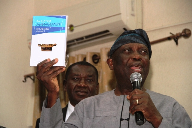 Unveiling of the 1st Volume of the series of lectures complied into a book  at the management lecture.