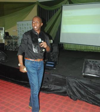 "Motivational speaker, Niyi Adesanya, during the seminar, tagged ""success activation"""