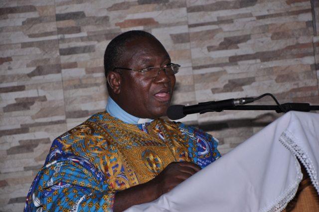 Rev Dr.Emmanuel K Amegbletor addressing the congregation
