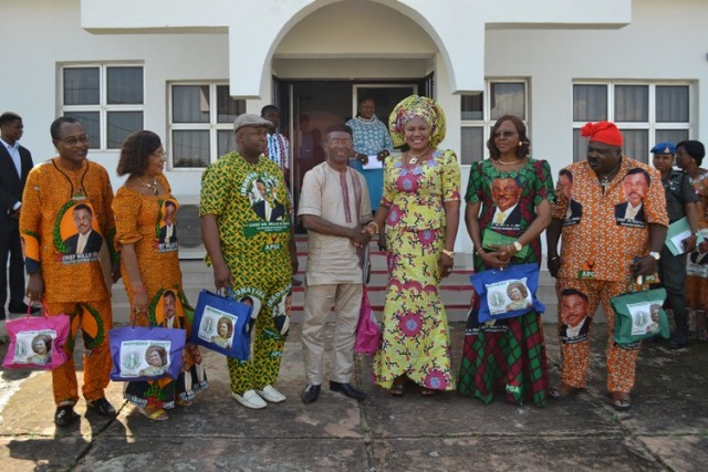 Mrs Ebelechukwu Obiano recives LGA Service Commission at Awka