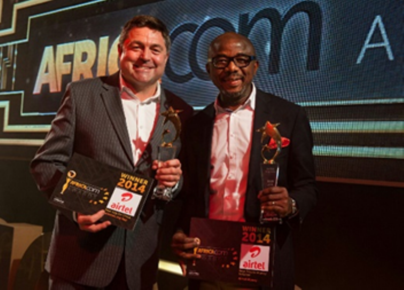 Andre Beyers, Chief Marketing Officer, Airtel Africa & Chidi Okpala, Director and Head of Airtel Money, with the award