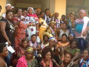A group photograph of Volta NPP women organizers
