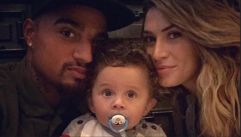 Kevin-Prince Boateng and his family