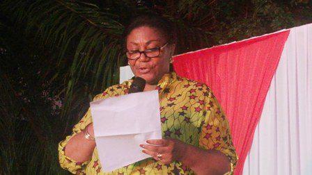 Mrs. Rebecca Akuffo Addo delivering a speech