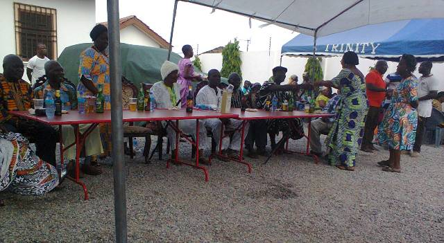 Picture shows the senior citizens at the get-together