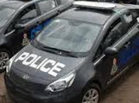 police Tata vehicle