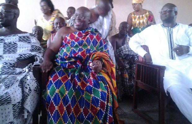 Nana Akufo-Addo flanked by Kwadwo Mpiani and Paul Afoko at the function