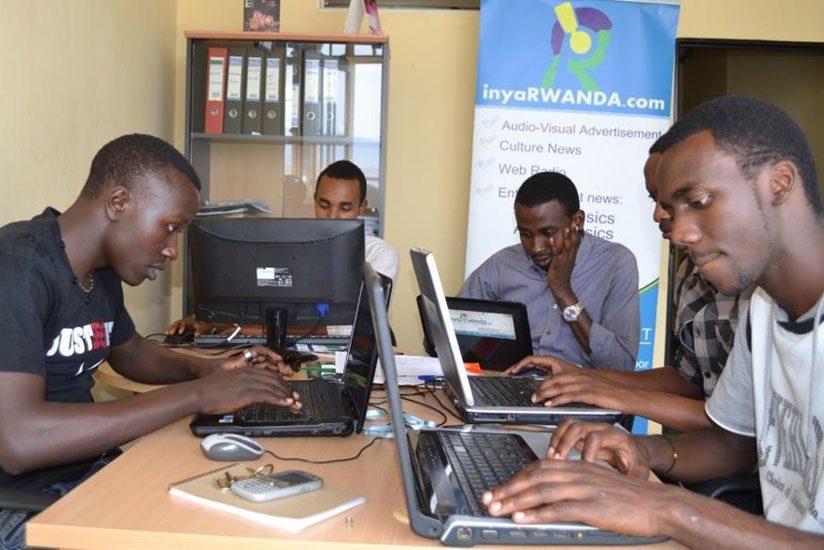 Inyarwanda team at work. (Moses Opobo)