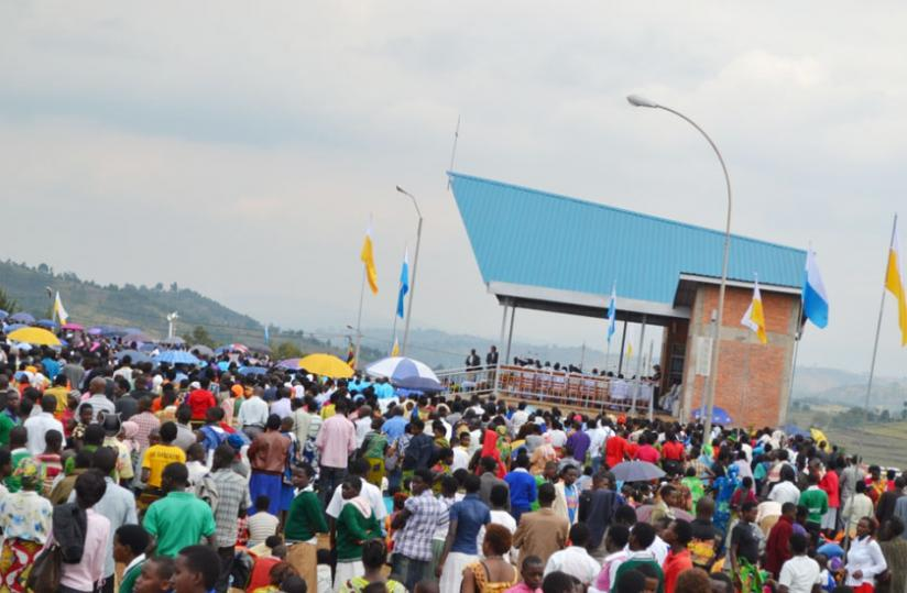 Nyaruguru is home to the holy site of Kibeho which attracts 1000s of visitors every year. (File)