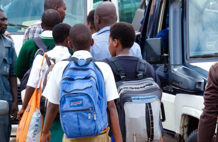 Students return for the start of second term in April. (T. Kisambira)