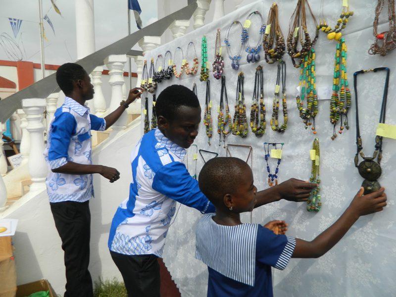 Beads bazaar by pupils of St Nicholas Preparatory School