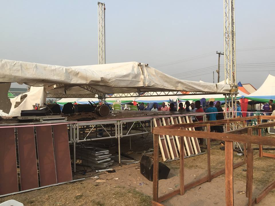 Destroyed items at the planned rally ground [5]