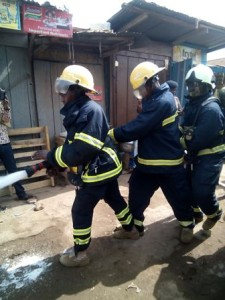 GNFS personnel in the demonstration exercise