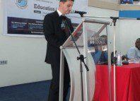 Mr Salem Kalmoni, President, BPI delivering a speech