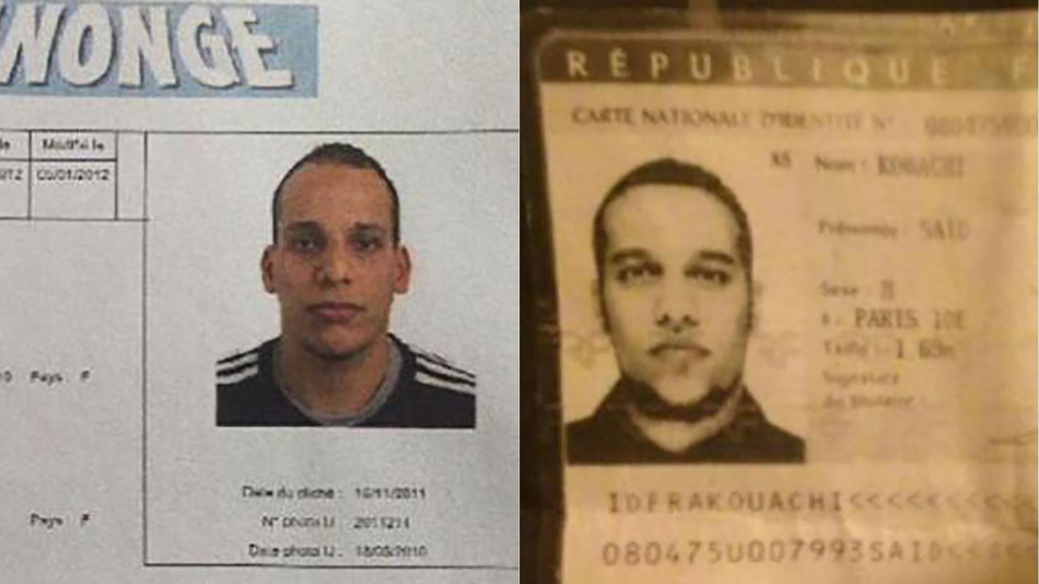 Said Kouachi (left) and Cherif Kouachi killed 12 people in their attack on the Charlie Hebdo offices