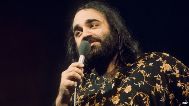 Demis Roussos appeared on BBC TV's Top of the Pops in 1976
