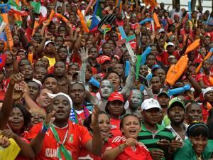 Fans of Equatorial Guinea.
