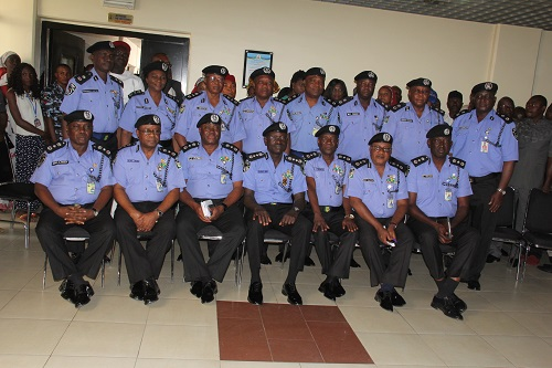 Newly Promoted Officers in a Group photo with IGP & his Mgt Team