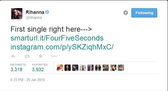 Rihanna-four-five-seconds-lead-single