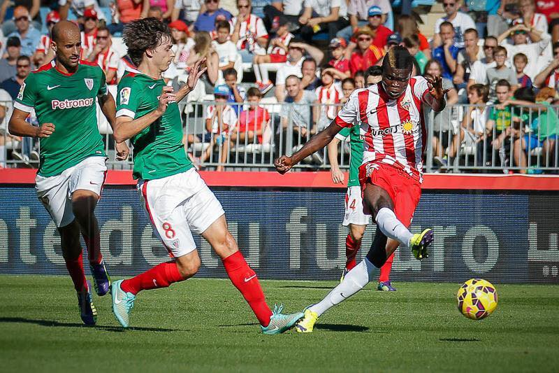 Thomas Partey, in action for Almeria, is keen on win against Valencia