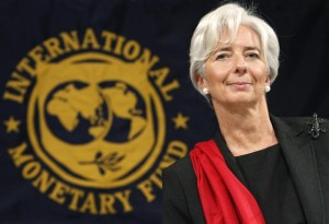 IMF Managing Director Christine Lagarde arrives at a news conference in Tokyo