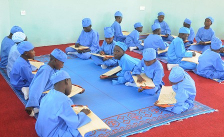 PIC.14.  PUPIL OF  ALMAJIRI  TSANGAYA MODEL PRIMARY SCHOOL,  DURING THE INAUGURATION OF THE SCHOOL  IN BAUCHI ON SATURDAY  (2/11/13).