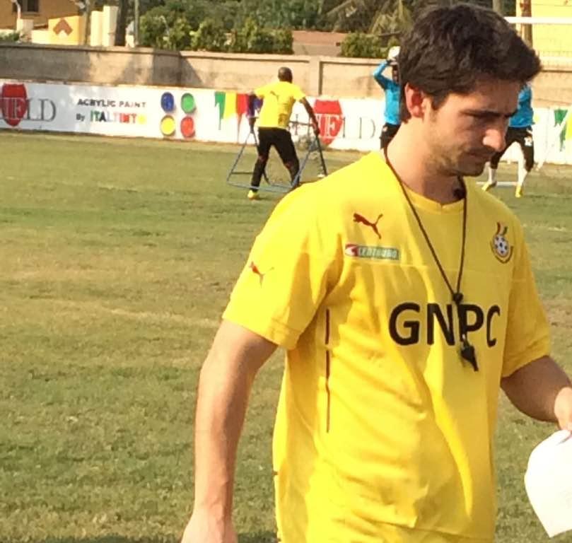 Gerald during Ghana's training in Ghana