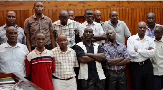 Some of the Kenya Navy soldiers sentenced to life imprisonment for deserting duty. They have appealed for bond pending the hearing of their appeal on February 26. PHOTO: GIDEON MAUNDU/ STANDARD
