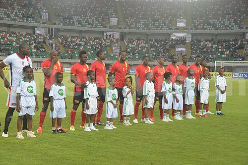 International friendly match between Nigeria v Uganda on march 25th, 2015 at Akwa Ibom Stadium