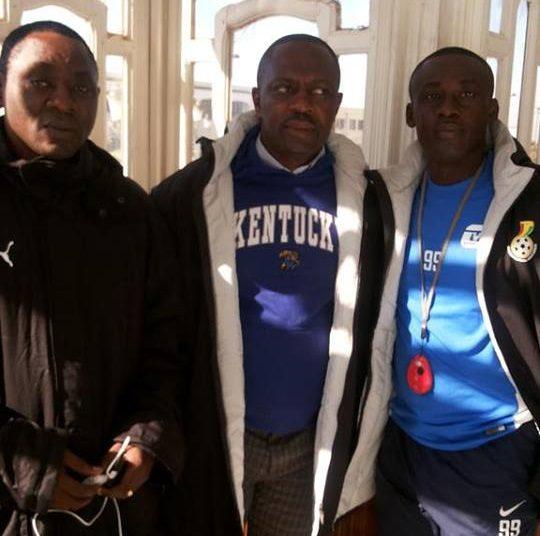 David Duncan with Opoku Nti and Michael Osei