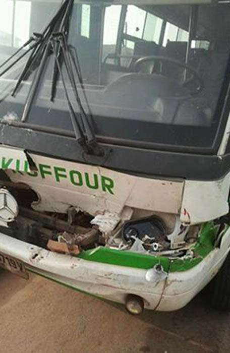 Damaged King Faisal bus (Credit AllSports Ghana)