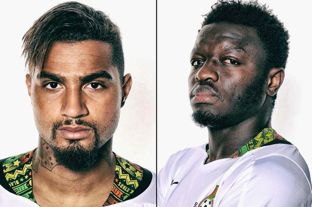Sulley Muntari and Kevin-Prince Boateng