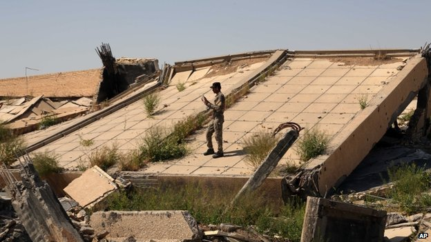 The mausoleum in al-Awja has been reduced to a pile of rubble