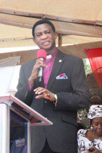 Apostle Amoani sharing the word of God