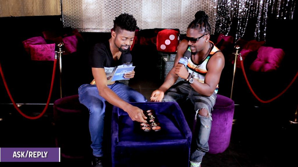 Basketmouth-and-Samini-AskReply Yaw Sakyi confirms that Basketmouth sacking Pat Thomas was not scripted + wife of singer speaks out Basketmouth and Samini AskReply