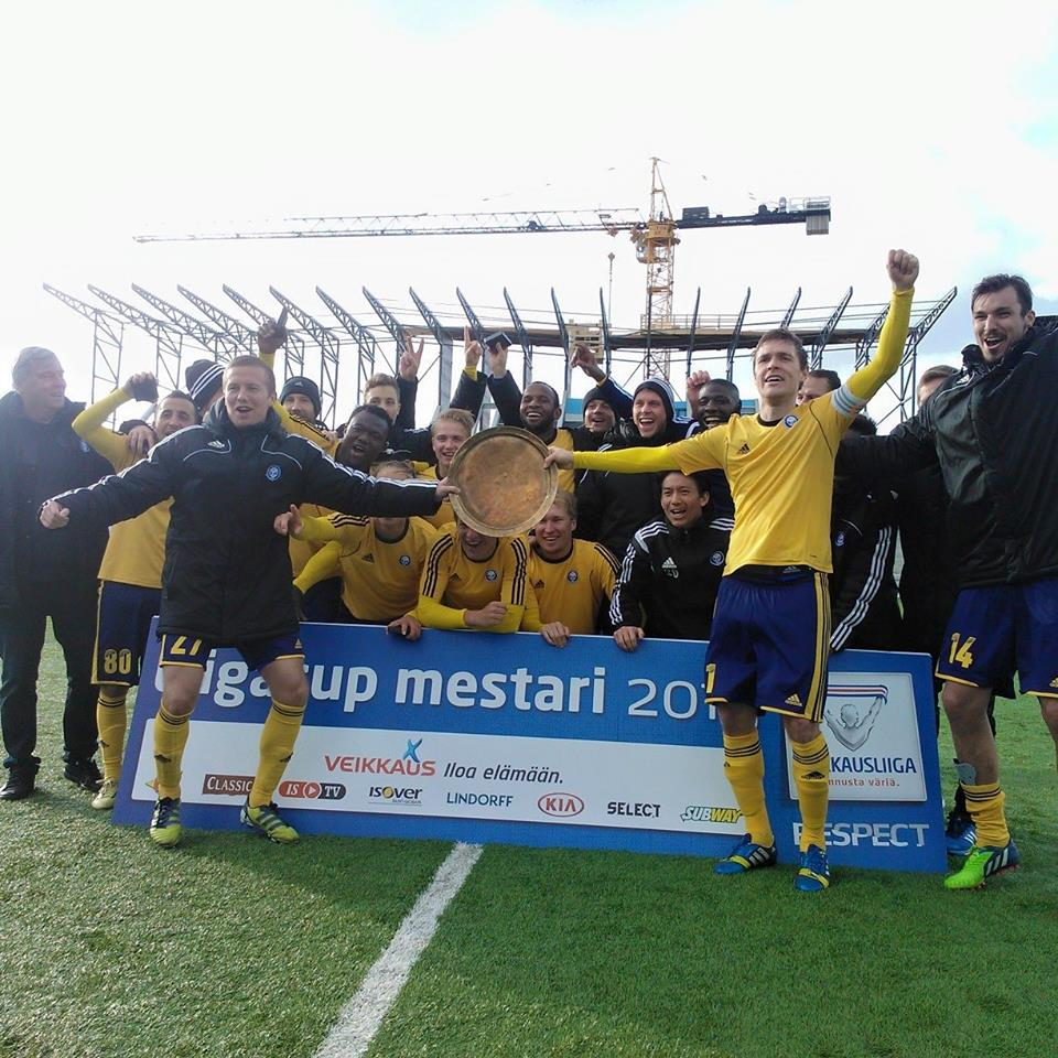 Gideon Baah wins Finnish League Cup with HJK Helsinki