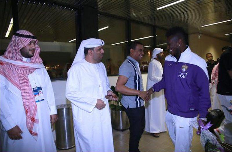 Asamoah Gyan at the airport