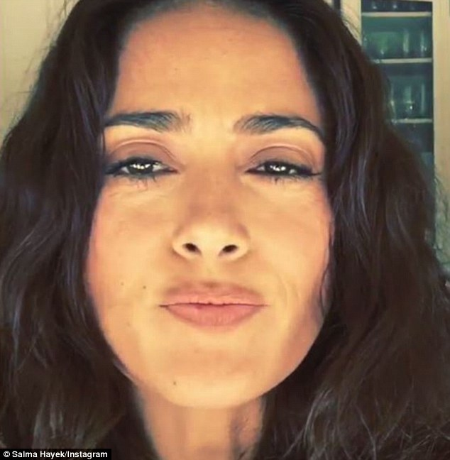 Latino actress Salma Hayek took to her Instagram account to share a video of herself eating a cricket on Sunday
