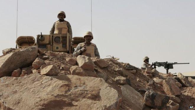 Saudi Arabia has troops deployed along its border with Yemen