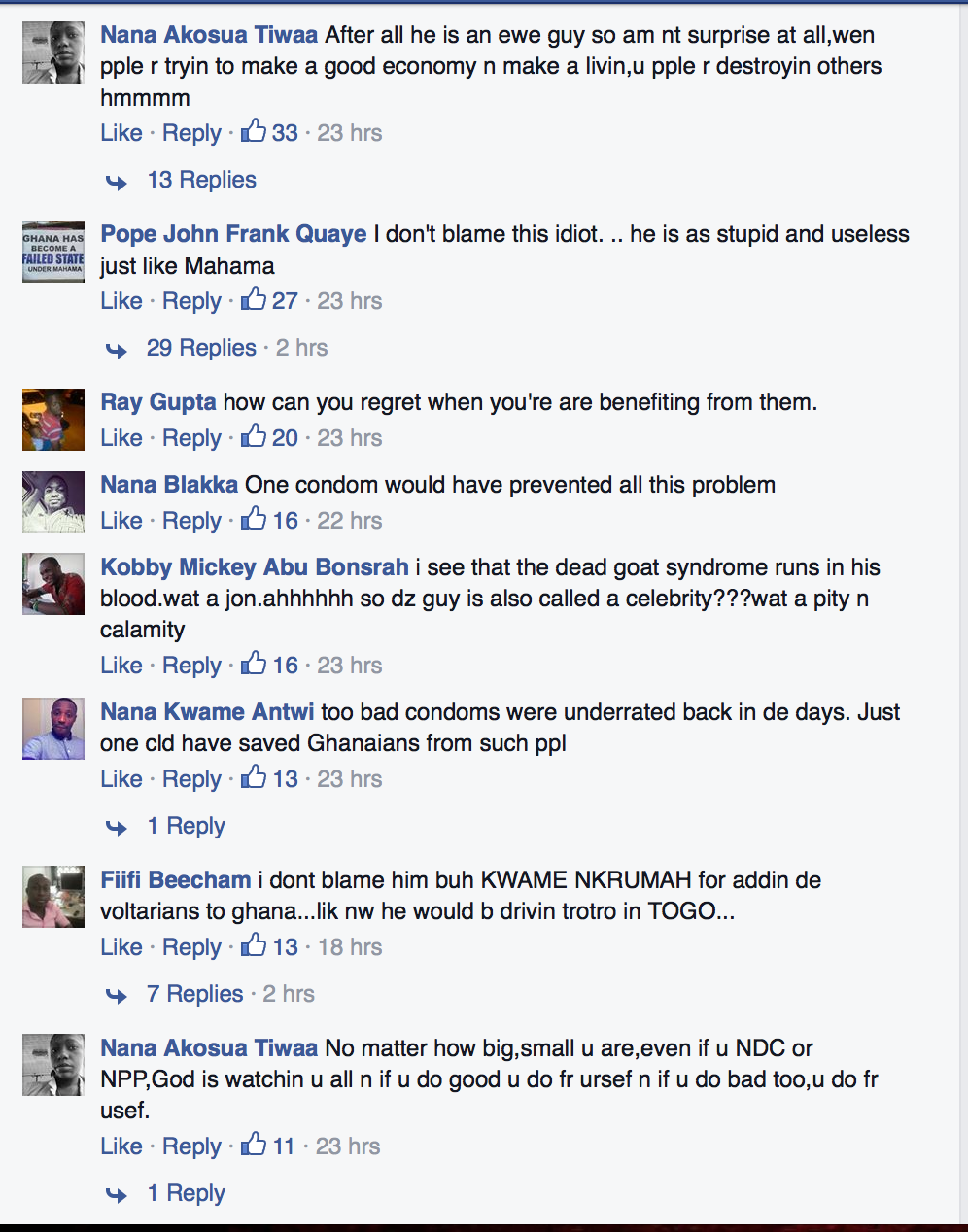 Screen Shot 2015-04-30 at 12.59.31 PM Social Media Vandalizes John Dumelo For His Mahama Comments ? See The Harsh Comments Screen Shot 2015 04 30 at 12