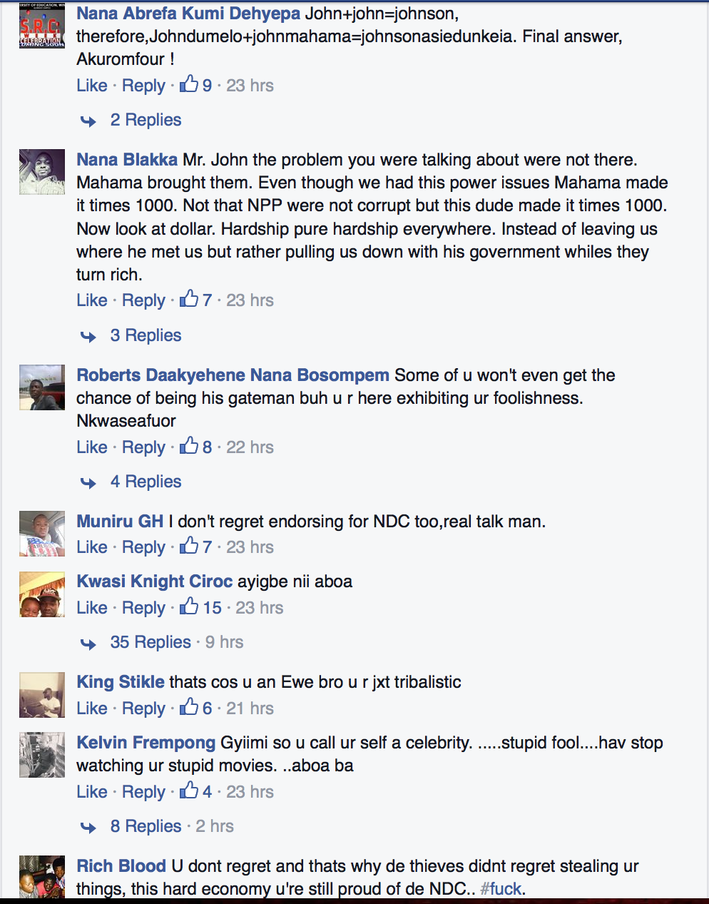 Screen Shot 2015-04-30 at 12.59.56 PM Social Media Vandalizes John Dumelo For His Mahama Comments ? See The Harsh Comments Screen Shot 2015 04 30 at 12