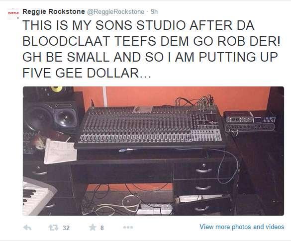 Swerved hopes Reggie Rockstone didn't offer $5,000 for repair of DJ Breezy?s studio reggie tweets