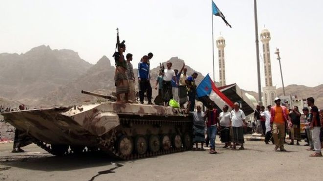Militiamen loyal to the president have been unable to halt the rebel advance on Aden