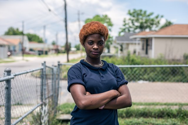 Photo taken on June 11, 2015 shows Gardner, who was among more than ten thousands former residents of Lower Ninth Ward who had to abandon their houses after breach of the adjacent Industrial Canal Levee on August 29, 2005, destroyed every single house in the area. Ever since the summer of 2005, the Lower Ninth Ward has become a dumping ground for unwanted things. Wild grass up to adult height prevails in the area, among which the wreckages of abandoned houses stand ominously. Ten years after Hurricane Katrina brought New Orleans to its knees and left an emotional footprint across the United States as people witnessed how the U.S. government failed to respond promptly, a predominantly African-American community of the city still struggles to define what their post-Katrina life would be. (Xinhua/Li Muzi) (lrz)