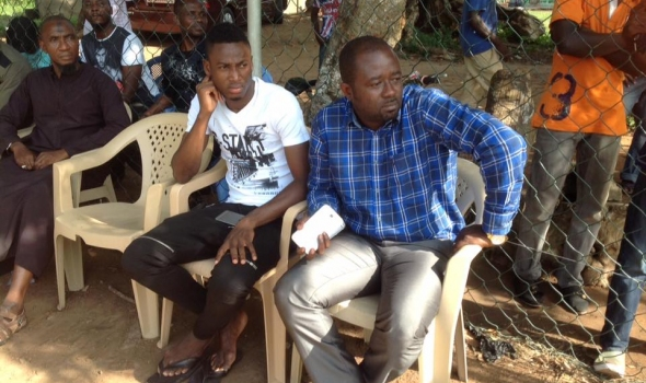 Baba Rahman with Dreams FC President Kurt Okraku