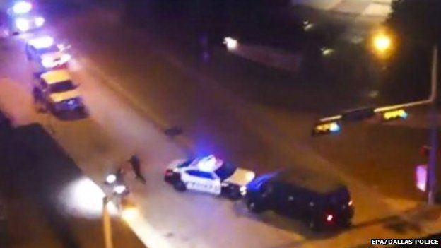 The suspect rammed a police car as he fled the scene