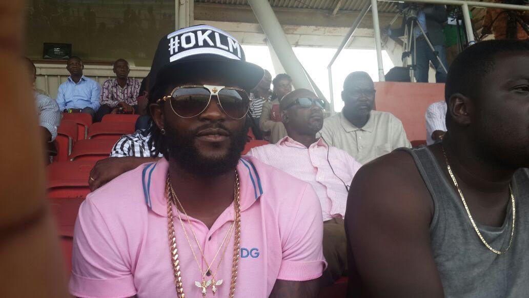 Emmanuel Adebayor in the stands in Accra