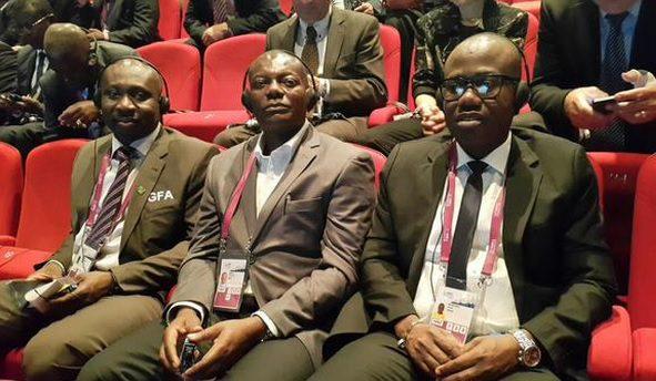 Emmanuel Gyimah (middle) remains at post