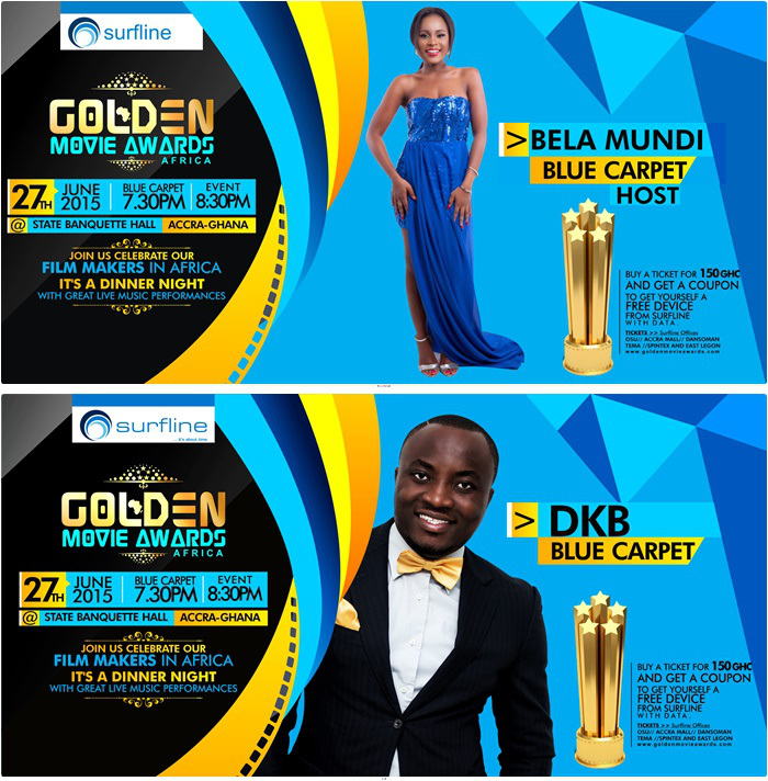Goldem Movie awards blue carpet